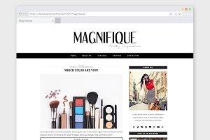 WordPress Blog Theme Magnifique