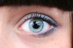 closeup of beautiful women eye