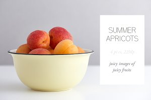 4 stock photos - Summer Apricots