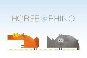 Horse & Rhino