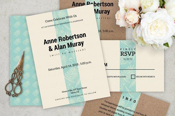 simply wedding invitation invitation templates creative market