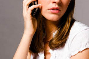 woman is talking phone