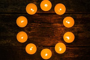 spa candles in the shape of a circle