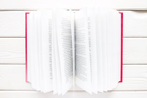 book in a red hardcover