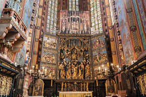 St. Mary's Basilica interior, Cracow