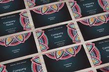 Visit cards with mandala. Vol.1
