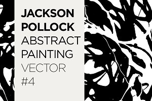 Abstract Painted Pattern Vector #4