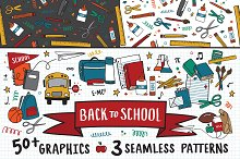 Back to School Graphics + Patterns