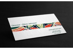 Visit cards with mandala. Vol.3