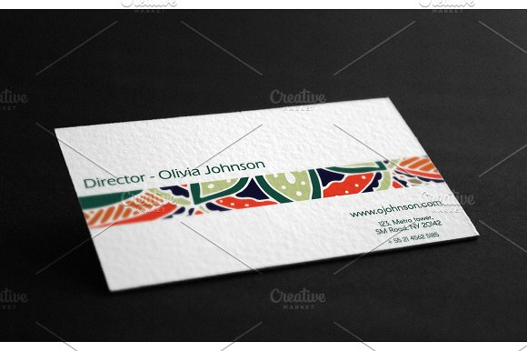 Visit cards with mandala. Vol.3 - Business Cards