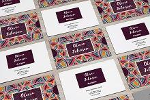 Visit cards with mandala. Vol.4