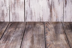 Old shabby wooden wall