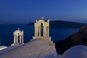 Summer night in Santorini