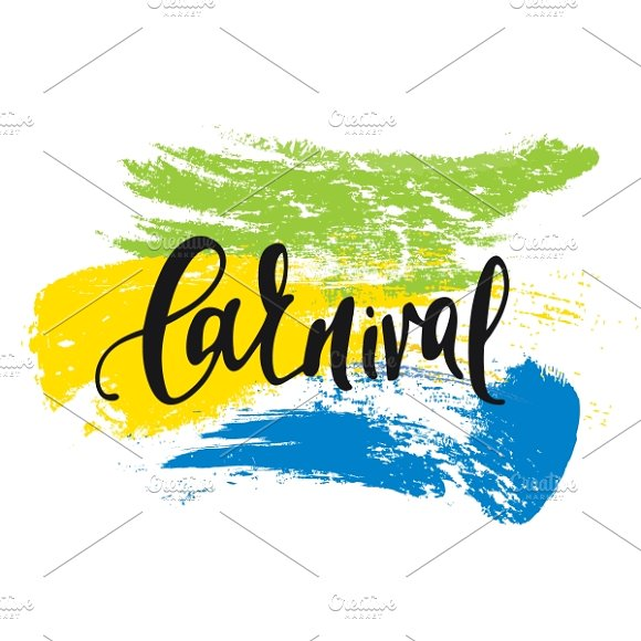 Carnival. Background watercolor - Graphics