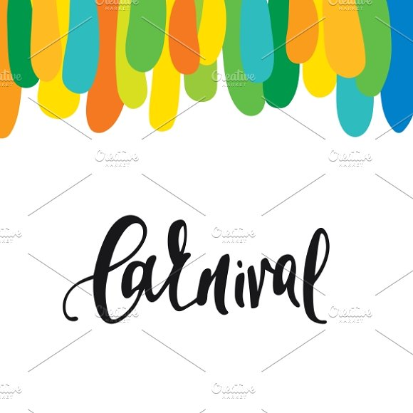 Carnival. Background watercolor  - Illustrations