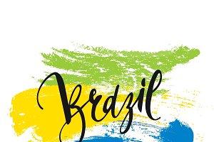 Brazil. Background Inscription