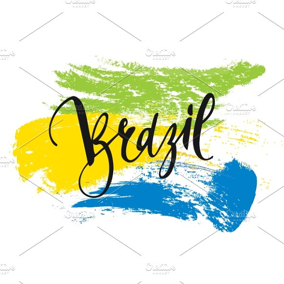Brazil. Background Inscription - Graphics