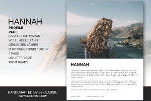 Hannah Profile Page