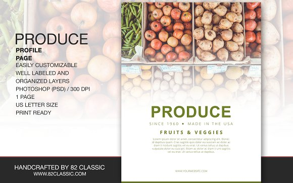 Produce Profile Page