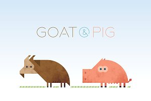 Goat & Pig