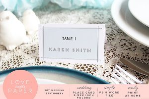 Table Name Place Card  PC2005