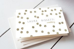Glitter Polka Dots Business Card