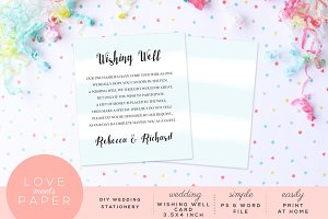 Wedding Wishing Well Card W1021