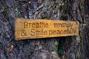 Buddhist Zen Wood Sign