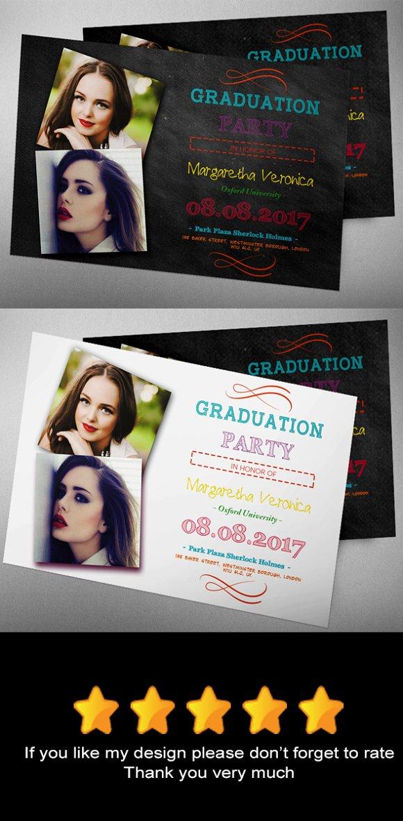 Graduation Invitation XII in Card Templates