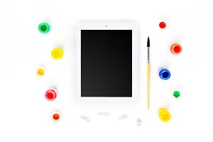Tablet with Paints