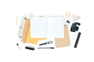 Stationery and Microscope 4 Mock Ups
