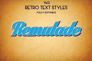 Vintage Retro Text Styles .Ai Vol2