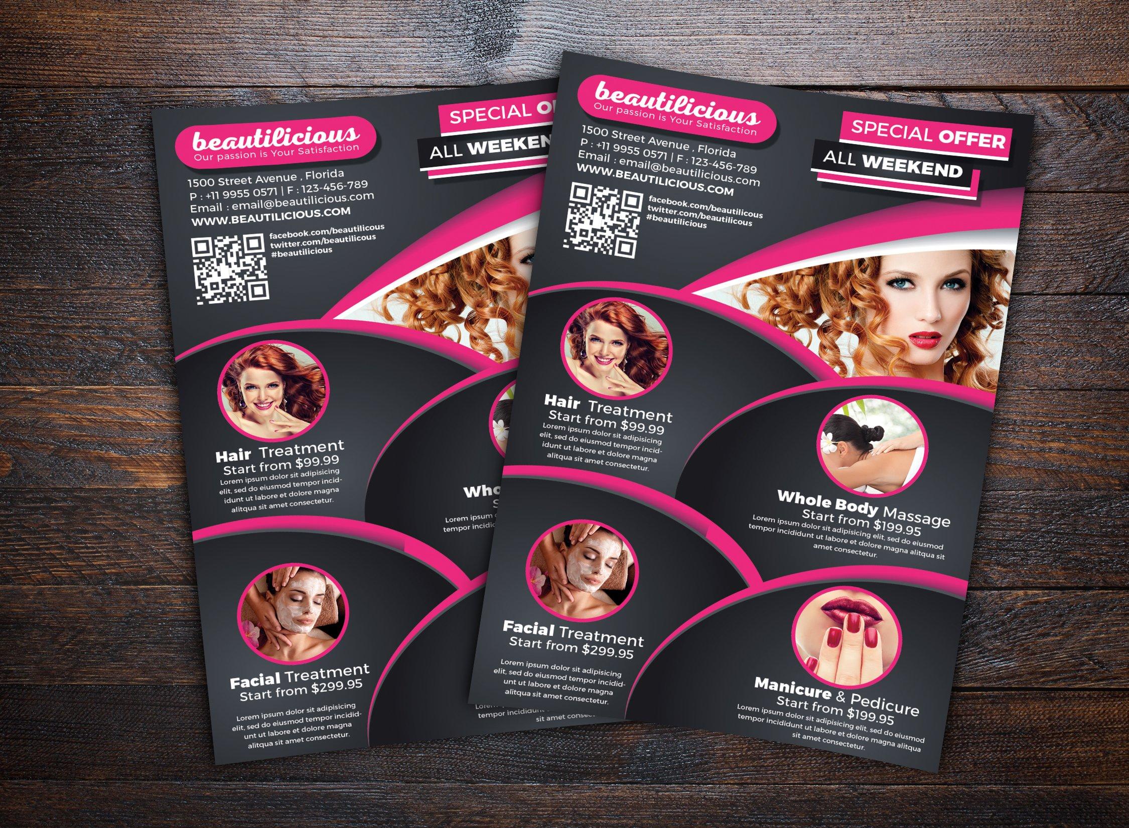 Beauty Salon Flyer ~ Flyer Templates ~ Creative Market