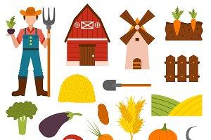 Farm organic vector