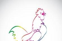 Vector of a cock design.