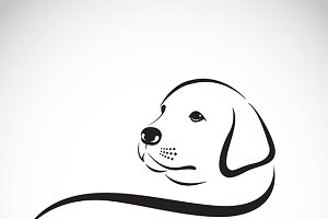 Vector of a dog labrador head.