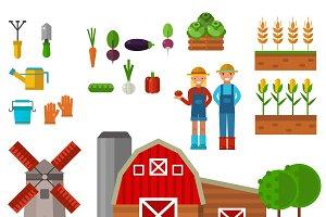 Farm symbols vector