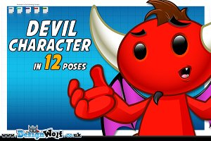 Devil Character - In 12 Poses