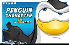 Penguin Character - In 12 Poses