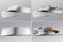 Realistic Landscape Brochure Mockups