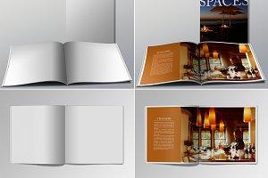 Realistic Square Brochure Mockups