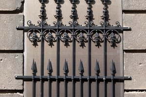 Wrought Iron Blind Window Grille