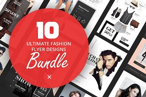 10 Fashion Flyer Designs Bundle V.1