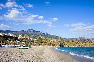 Beach on Costa del Sol in Nerja