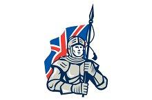 Knight British Flag Retro