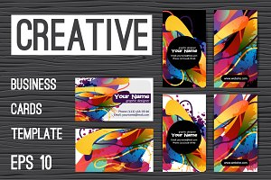 Set of colorful creative templates