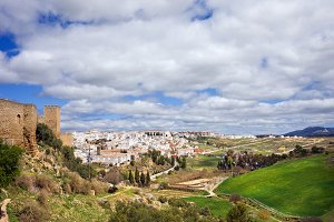 Ronda Town And Andalusia Landscape