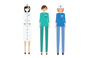 Medical women team.doctor, paramedic