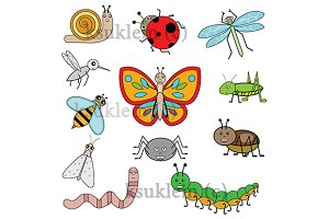Cartoon Insects. vector+jpg