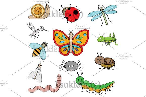 Cartoon Insects. vector+jpg - Illustrations
